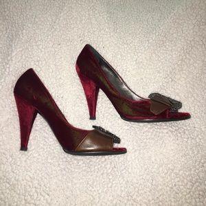 👠Casadei Velvet heels